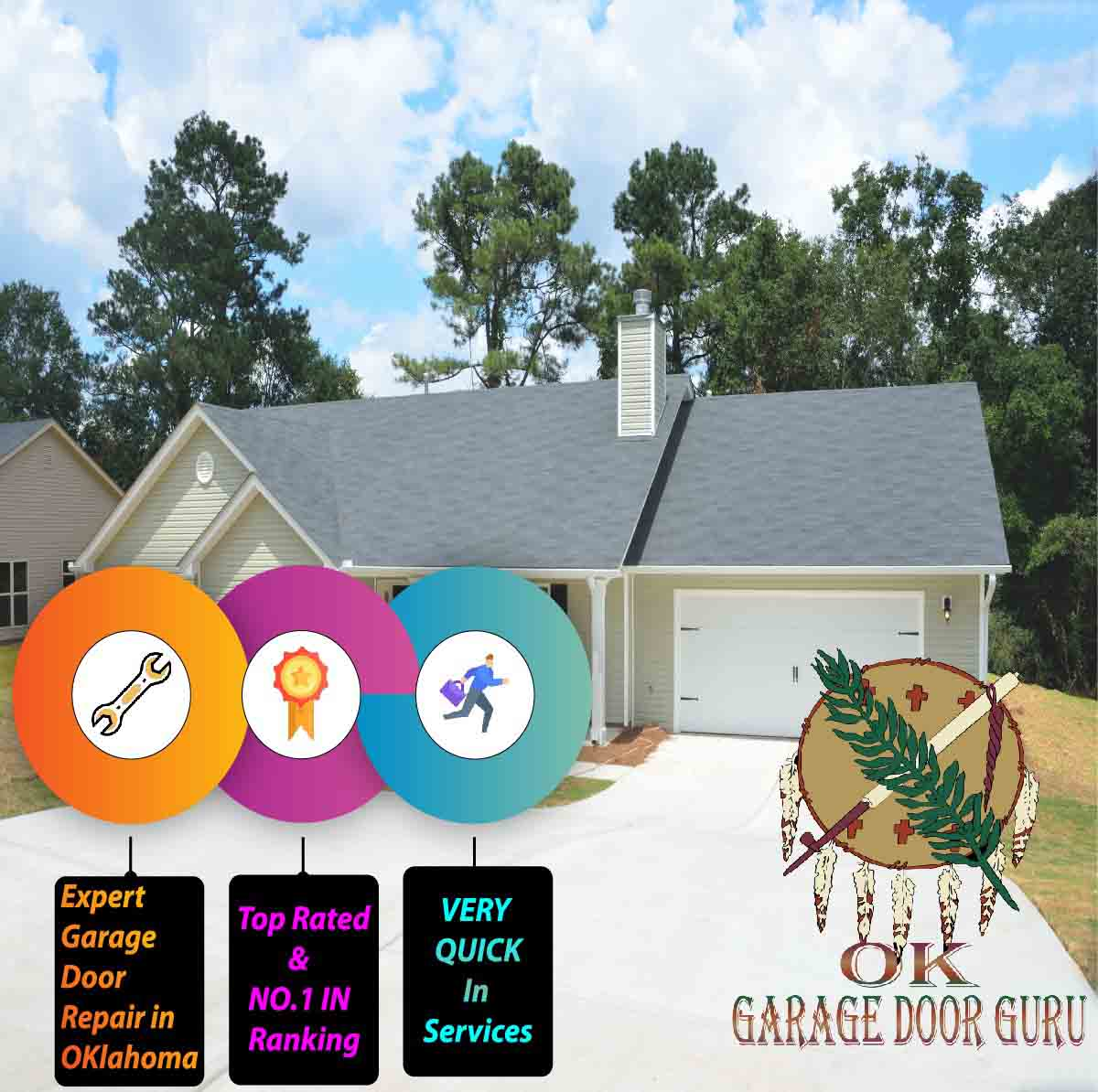Emergency Garage Door Repair Services in Tulsa