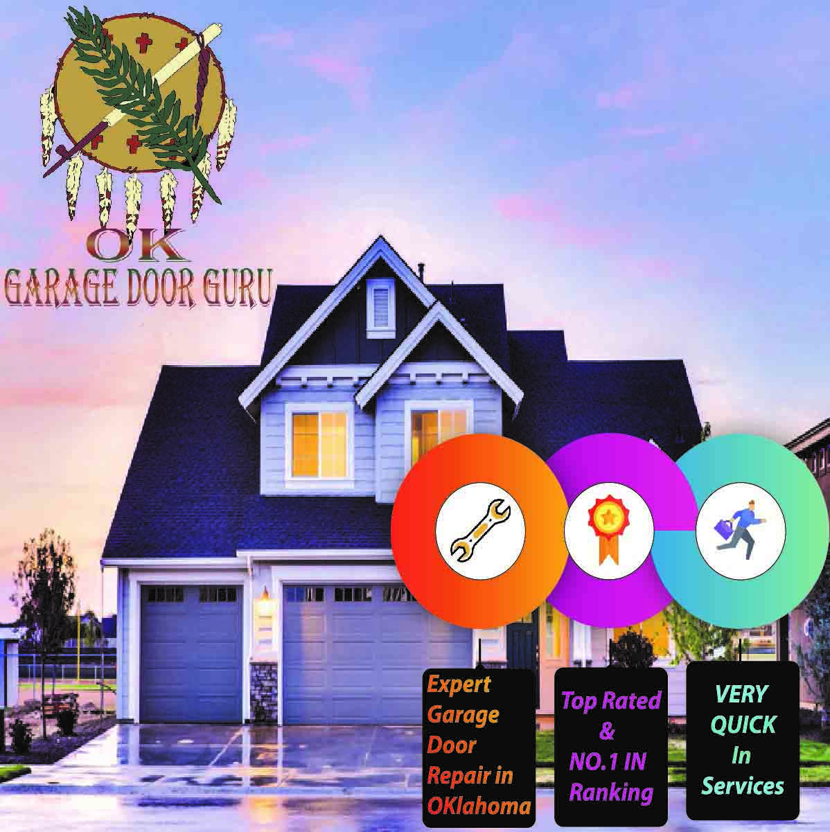 Emergency Garage Door Repair in Broken Arrow